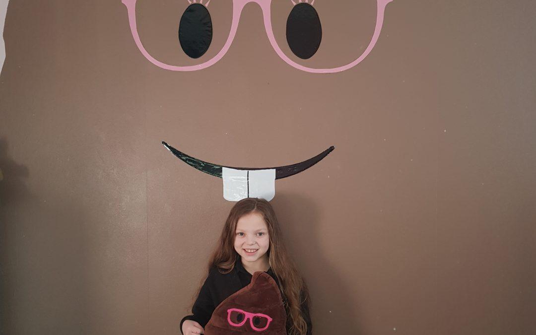 POO-WHAT? Kidney failure tot loves poo emoji – so parents paint 10ft version on her BEDROOM WALL