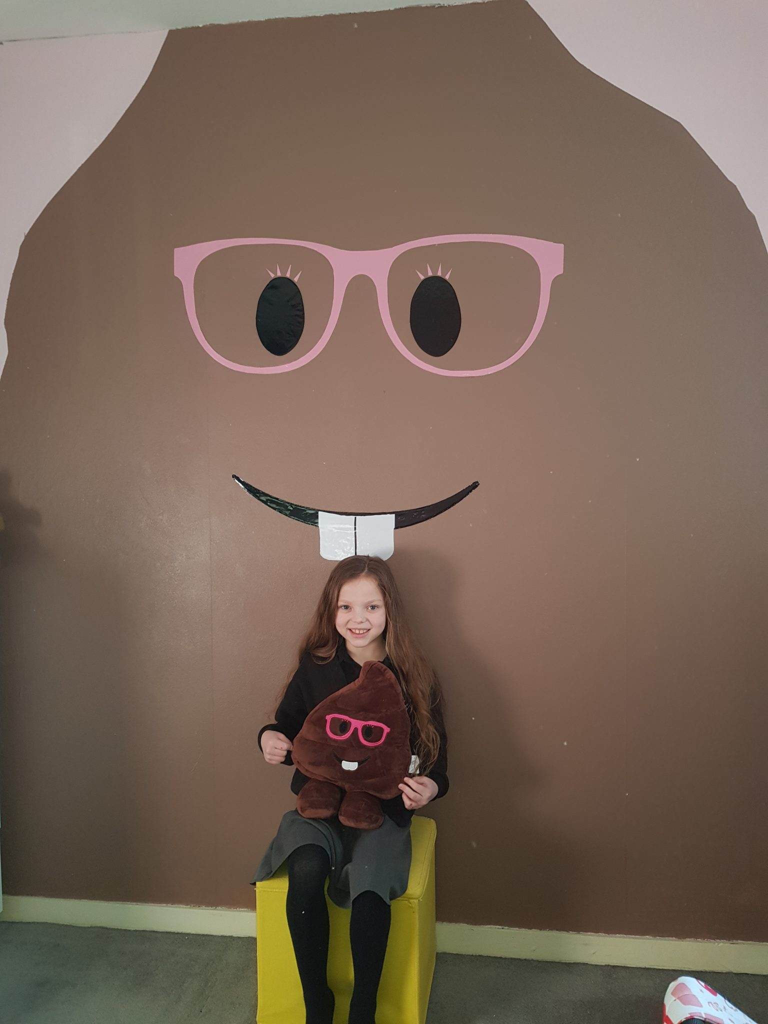 POO-WHAT? Kidney failure tot loves poo emoji – so parents paint 10ft version on her BEDROOM WALL